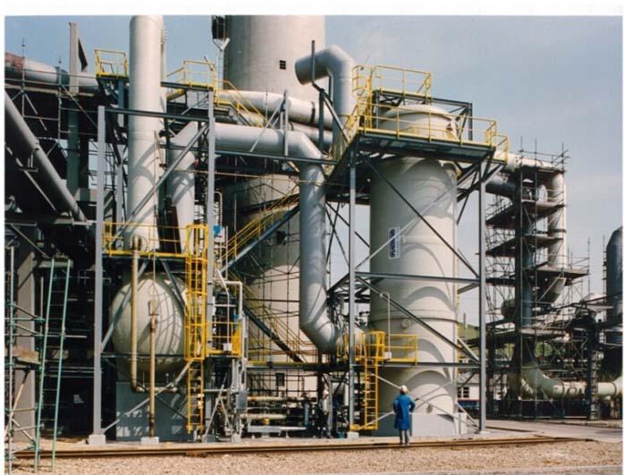 Lavador de gases amoníaco