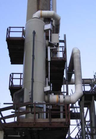 Lavador de gases tipo spray