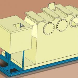 Lavador de gases horizontal